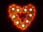Beleuchtetes Mandarinenherz