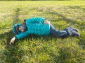 Sofia genießt die Wintersonne